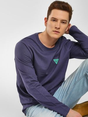 Blue Saint Melange Crew Neck Sweatshirt