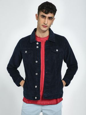 Blue Saint Men's Navy Regular Fit Jacket