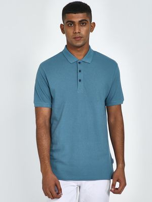 Blue Saint Basic Muscle Fit Polo Shirt