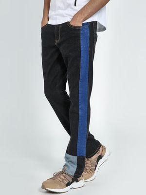 Blue Saint Contrast Side Tape Slim Jeans