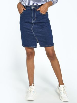 Blue Saint Dark Wash Mini Denim Skirt