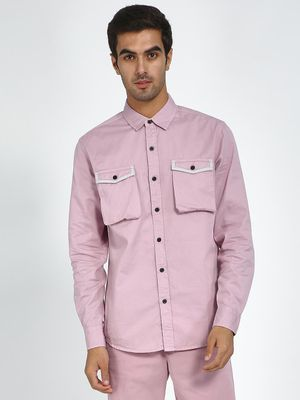 Blue Saint Twin Patch Pocket Slim Shirt