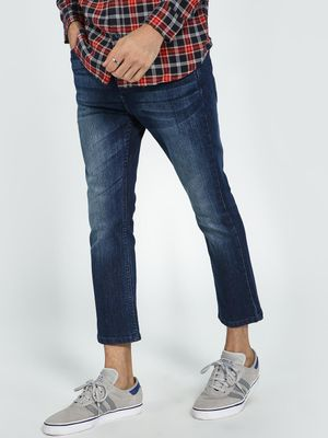 Blue Saint Mid Wash Cropped Slim Jeans