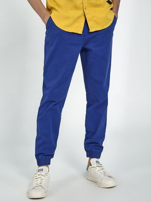 Blue Saint Men's Blue Slim Fit Jogger