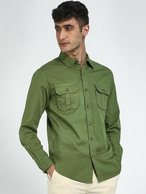 Blue Saint Twin Pocket Casual Shirt