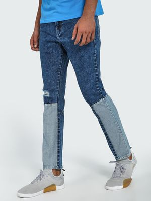 Blue Saint Cut & Sew Acid Wash Slim Jeans