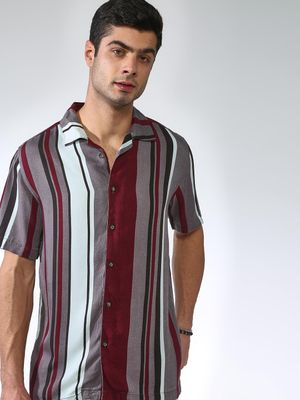 Blue Saint Multi-Stripes Short Sleeve Shirt