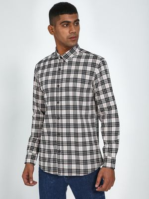 Blue Saint All Over Checks Print Casual Shirt