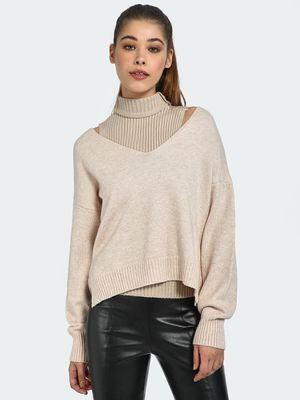 Blue Saint V-Neck High-Low Hem Pullover