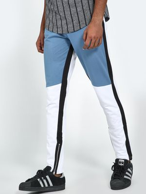 Blue Saint Colour Block Panel Side Tape Jog Pants