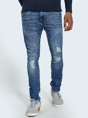 Blue Saint Acid Wash Distressed Slim Jeans