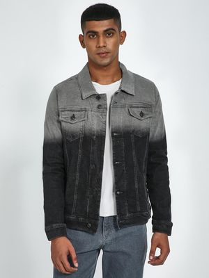Blue Saint Ombre Effect Denim Jacket