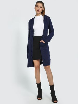 Blue Saint Front Buttoned Long Cardigan