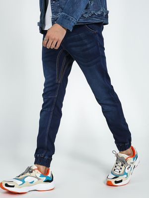 Blue Saint Acid Wash Denim Joggers