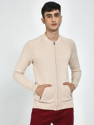 Blue Saint Men's Pink Regular Fit Cardigan