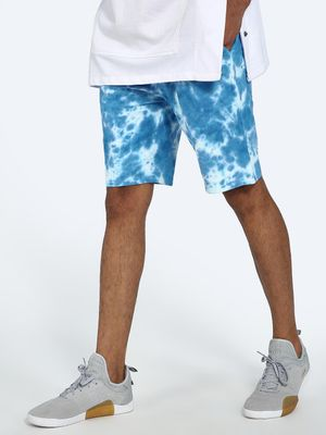 Blue Saint Tie-Dye Print Shorts