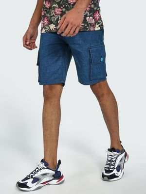 Blue Saint Utility Pocket Denim Shorts