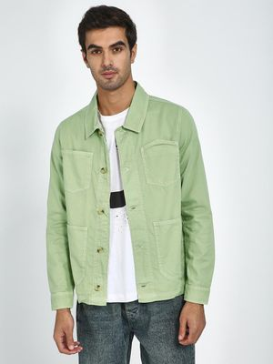 Blue Saint Green Full Sleeve Regular Fit Jacket