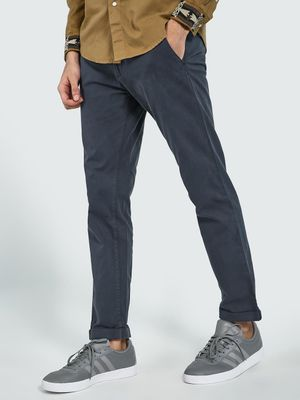 Blue Saint Roll-Up Hem Slim Trousers