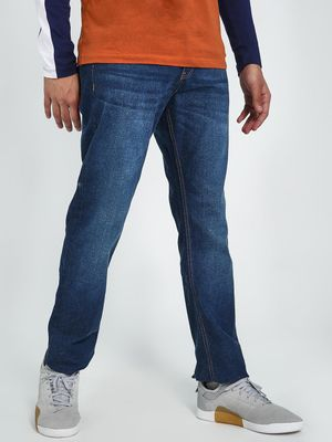 Blue Saint Whiskered Mid Washed Jeans