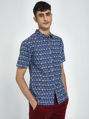 Blue Saint All Over Printed Casual Shirt