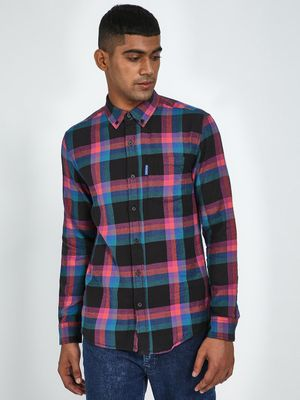 Blue Saint All Over Checks Print Shirt