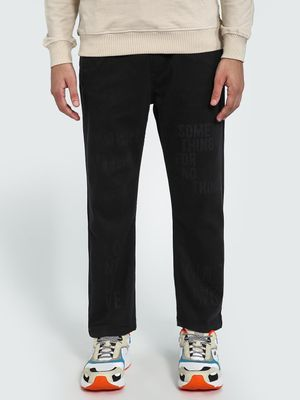 Blue Saint Slogan Print Jog Pants