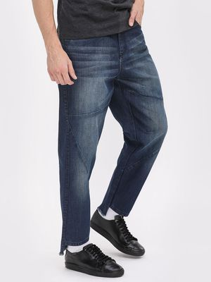 Blue Saint Slim Jeans With High Low Hem