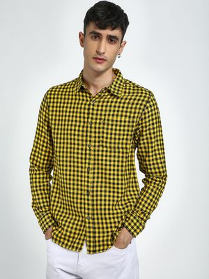 Blue Saint Gingham Check Casual Shirt