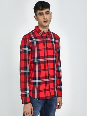 Blue Saint Tartan Check Casual Shirt