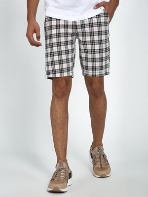 Blue Saint Plaid Check Print Shorts
