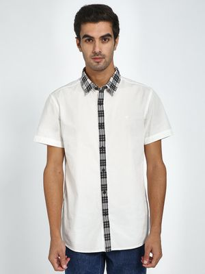 Blue Saint Solid Short Sleeve Casual Shirt