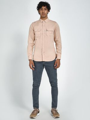 Blue Saint Twin Pocket Slim Fit Casual Shirt