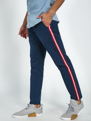 Blue Saint Contrast Side Tape Drawcord Trouser