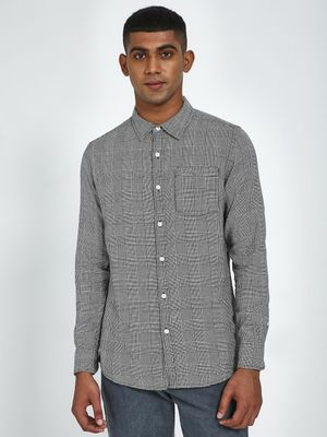 Blue Saint Checkered Slim Shirt