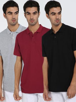 Blue Saint Basic Short Sleeve Polo Shirt (Pack Of 3)