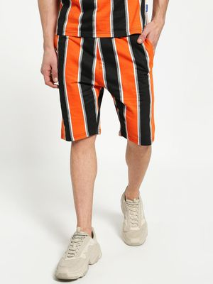 Blue Saint Vertical Multi-Stripe Shorts