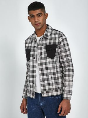 Blue Saint All Over Checks Print Jacket