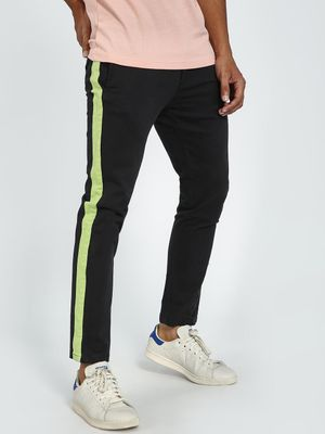 Blue Saint Contrast Side Tape Slim Trousers