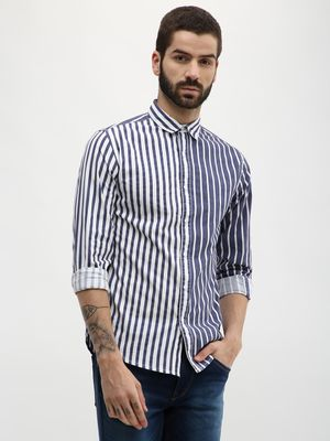 Blue Saint Striped Slim Fit Shirt