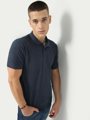 Blue Saint Men's Navy Regular Fit Polo Shirt