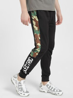 Blue Saint Electric Camo Side Tape Joggers