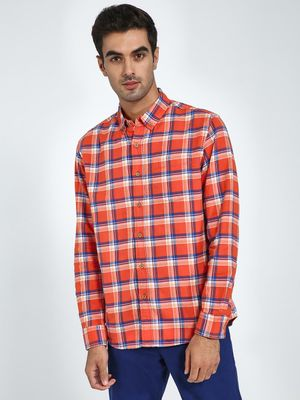 Blue Saint Plaid Check Long Sleeve Shirt