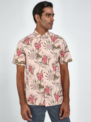 Blue Saint Tropical Floral Print Regular Shirt
