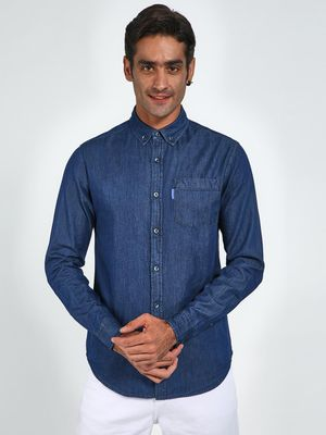 Blue Saint Long Sleeve Chambray Shirt