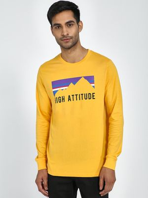 Blue Saint High Attitude Placement Print Long Sleeve T-Shirt
