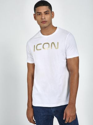 Blue Saint Icon Foil Placement Print T-Shirt