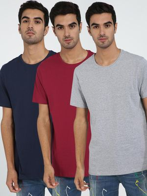 Blue Saint Basic Crew Neck T-Shirt (Pack Of 3)