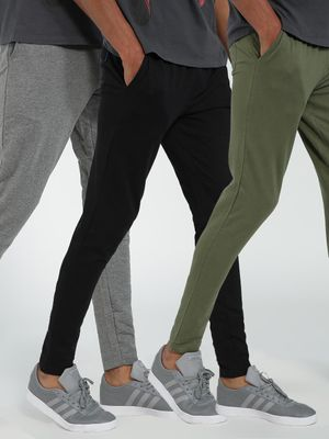 Blue Saint Basic Slim Jog Pants (Pack Of 3)