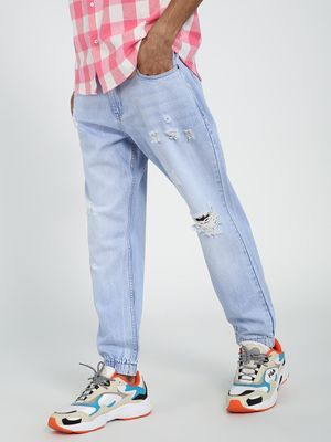 REALM Paint Splatter Slash Knee Regular Jeans